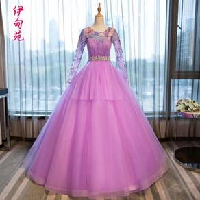 Pink wedding bridal prom dress gown RB0408