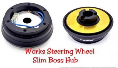 Works steering wheel slim boss hub arospeed Toyota