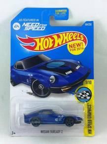 Hotwheels NFS Jun Imai Nissan Fairlady Z #9 Blue