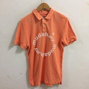 Chaps Polo Shirt Size M Orange custom fit