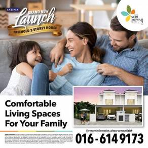 New Launch Freehold Full loan Nice 2 Storey & beside Setia Alam