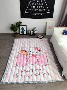 Karpet kanak -kanak hello kitty pink crawl mat