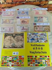 119 Duit kertas World Banknotes Set A