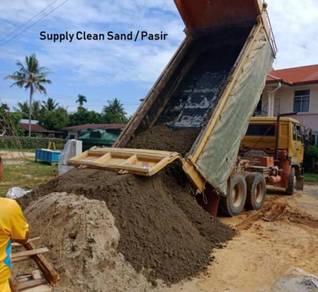 Topsoil tanah hitam pasir sand batu rock stone