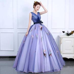 Blue phoenix prom wedding ball dress gown RB0809