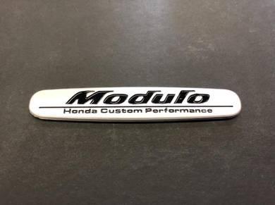 Honda modulo logo emblem honda racing silver