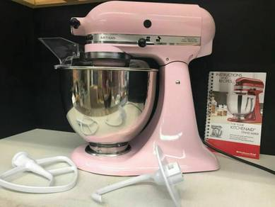 New KitchenAid mixer pink Stainless steel Bowl