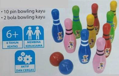 Kiddy Wooden Bowling Set (PJ)