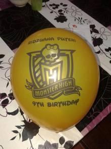 Logo, gambar, perkataan- Printed balloon-4 hr siap