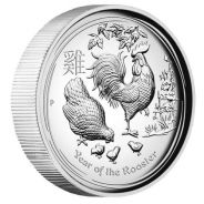 SII 2017 Rooster 1oz Silver Proof High Relief Coin