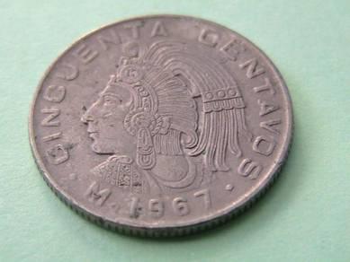 Mexico 50 Centavos 1967