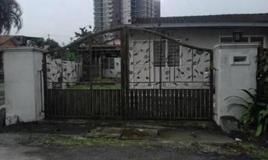 Single storey corner lot for sale in setapak garden kuala lumpur