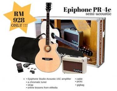 Guitar Epiphone PR-4E Set With Amplifier