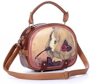 1724 Cute Girl Design Ladies Sling Bag Handbag