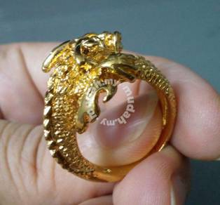 ABRGM-D005 Pretty Noble Shiny Dragon Gold Ring S85