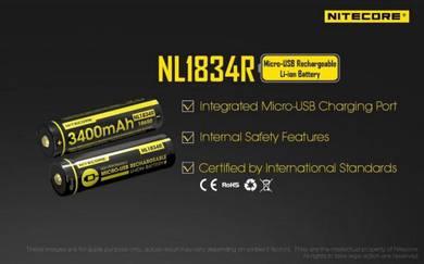 Nitecore 18650 3400mAh Micro USB Recharge Battery