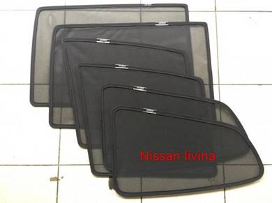 Nissan livina sun shade with magnet 6 pcs