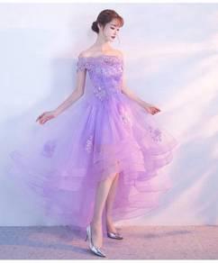 Purple evening wedding bridal dress gown RBP1362
