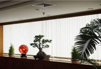 Pure white Vertical blind window for cool office