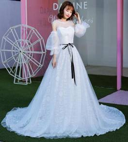 White wedding prom dress gown photoshoot RB0491