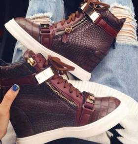 Brown high cut dancing shoes heels RBH0001