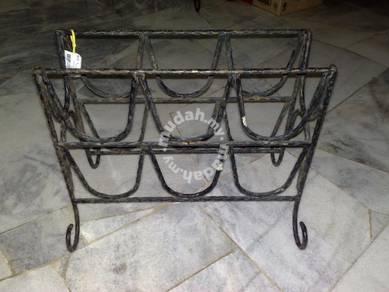Vintage cast iron rack rak besi