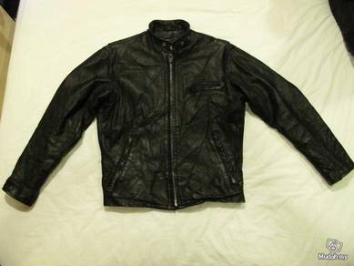 SCHOTT CLASSIC RACER BLACK LEATHER Size 38 JACKET
