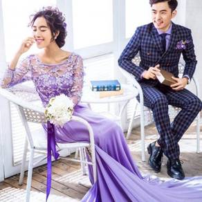 Purple wedding bridal prom dress gown RB0484
