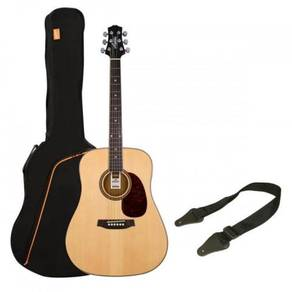 Ashton SPD25 Acoustic Guitar (Natural & Black)