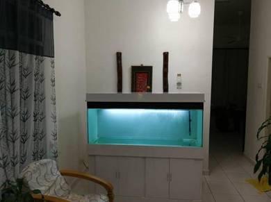 Kabinet aquarium beserta penutup
