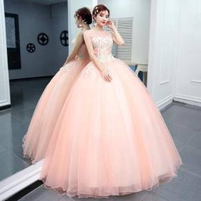 Pink blue prom wedding bridal ball dress RB0816