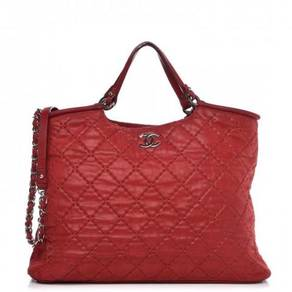 CHANEL Iridescent Calfskin Quilted Large Sea Hit