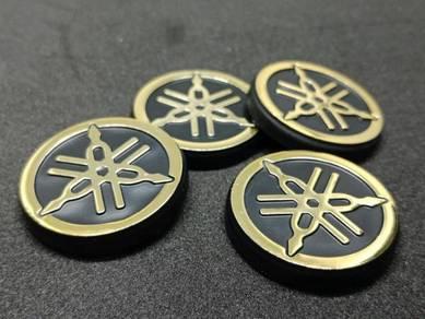 Emblem Yamaha Gold Chrome