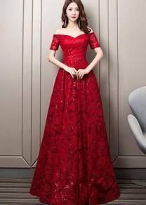 Red sequin wedding bridal dress gown RBP1359