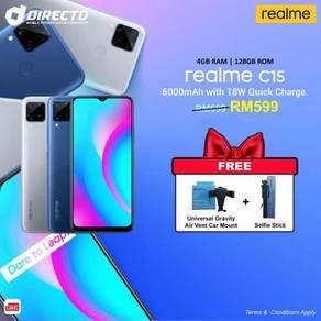 RealMe C15 (6000 mAh BATT/18W CAS/4GB RAM/128GB)