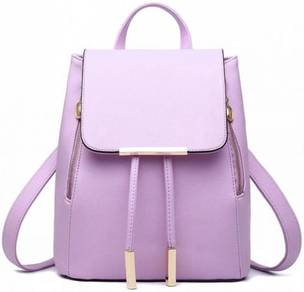 Aurora Classic Bag Stylish Backpack - Light Purple
