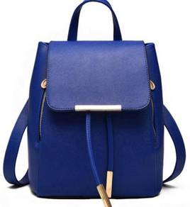 Aurora Korean Classic Bag Stylish Backpack - Blue