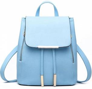Aurora Classic Bag Stylish Backpack - Light Blue