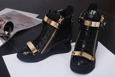 Black high cut dancing shoes heels RBH0001 a
