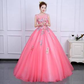 Pink prom wedding bridal ball dress gown RB0813