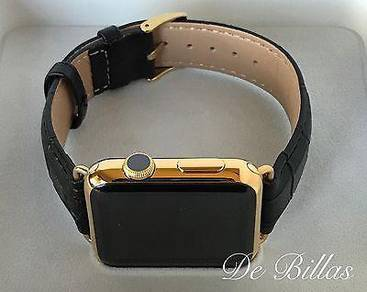 24k Gold Plated Apple Watch Series 2 With Black Al