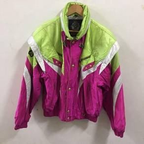 Vintage Descente Racing Jacket Size L Pink