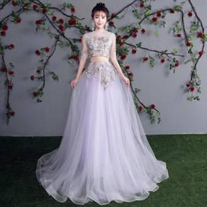 Purple wedding bridal prom dress gown RB0498