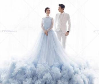 Blue wedding prom dress gown photoshoot RB0490