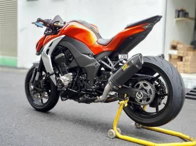 Ekzos Carbon SP2 Kawasaki Z1000 Exhaust exzos