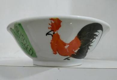 Vintage chicken Ceramic bowl.