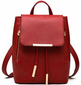 Aurora Korean Classic Bag Stylish Backpack - Red