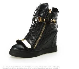 Black high cut dancing shoes heels RBH0003