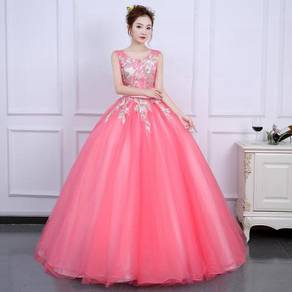 Pink prom wedding bridal ball dress gown RB0817