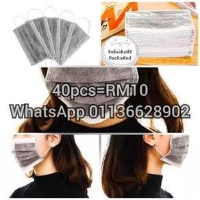 40Pcs activated charcoal facemask